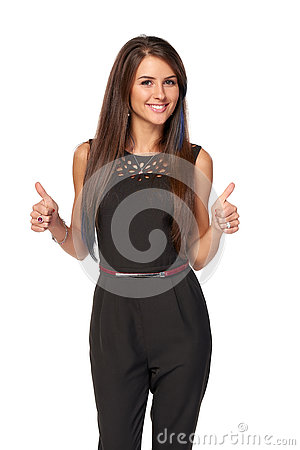 Free Business Woman Gesturing Approving Signs Royalty Free Stock Photography - 78881797