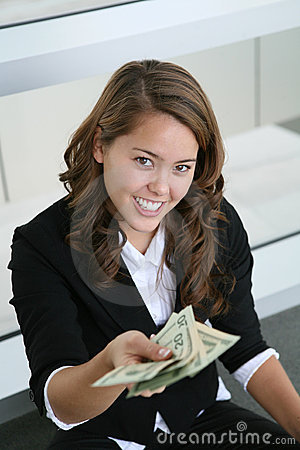 Free Business Woman Giving Money Stock Photos - 1813373
