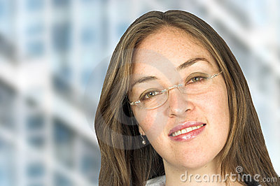 Business woman with glasses 2
