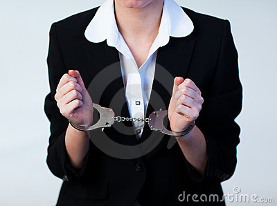 Business Woman in Handcuffs