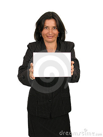 Business woman happy with her illustration