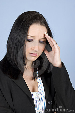 Business woman with headache