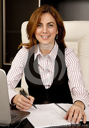 Business Woman at her desk