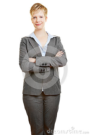 Business woman holding her arms crossed