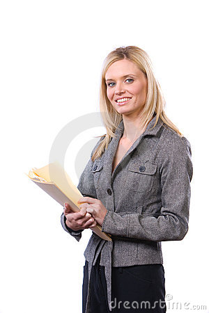 Free Business Woman Holding Legal Documents Royalty Free Stock Photo - 8595275