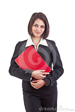 Business woman holding organizer