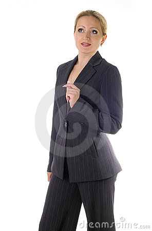 Business woman with idea