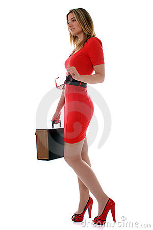 Free Business Woman In Red Stock Photo - 19949850