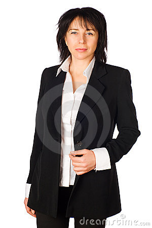 Business woman . Isolated
