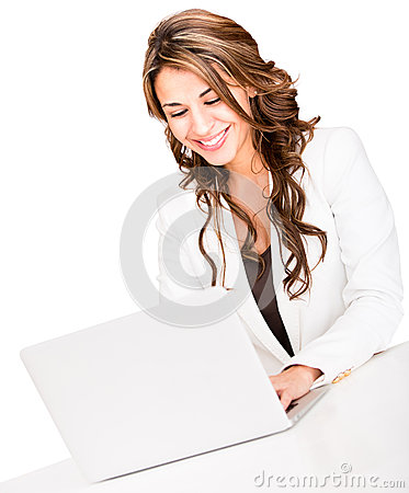 Business woman with a laptop