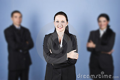 Business woman leader