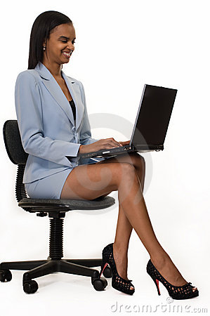Business woman legs