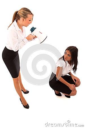 Business Woman Megaphone