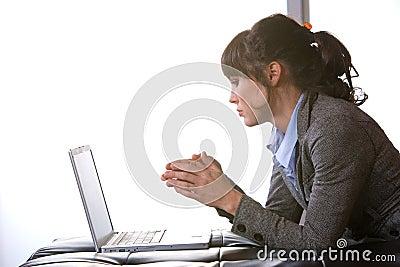Business woman modern office