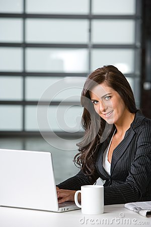 Business woman in a modern office
