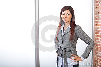 Business woman in modern office