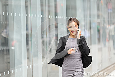 Business woman in motion