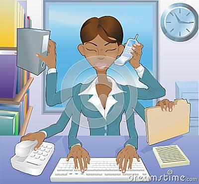 Free Business Woman Multi-tasking Stock Photos - 10484653