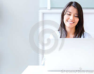 Business Woman At The Office Stock Photos - Image: 29113383