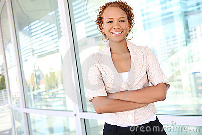 Business Woman at Office Building
