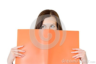 Business woman in an office with documents