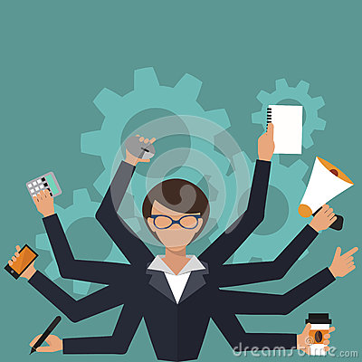 Free Business Woman Office Job Stress Work Vector Illustration Person Manager Character Stock Image - 92150861