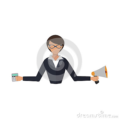 Free Business Woman Office Job Stress Work Vector Illustration Person Manager Character Stock Photos - 92744833