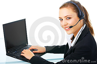 Business woman online