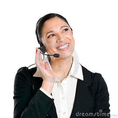 Free Business Woman Operator With Headset Royalty Free Stock Images - 14052729