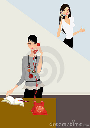 Business woman on the phone in office