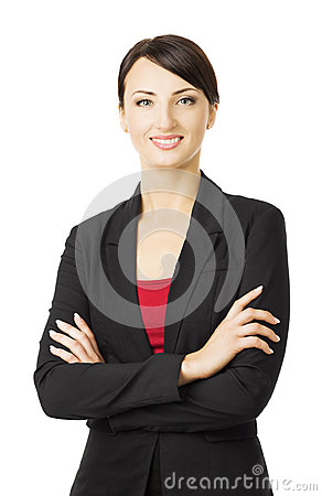 Free Business Woman Portrait, Isolated Over White Background, Smiling Stock Photography - 43560642