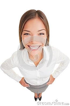 Business woman portrait smiling