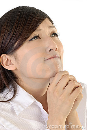Business woman pray