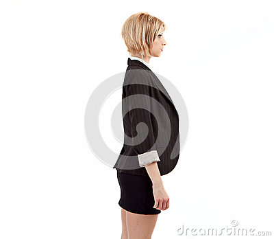 Business woman profile