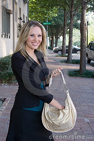 Business Woman With Purse
