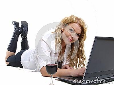 Business woman relaxing