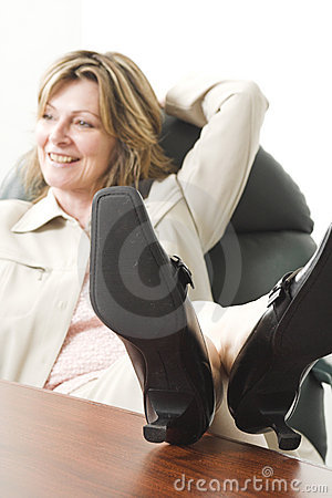 Business woman relaxing