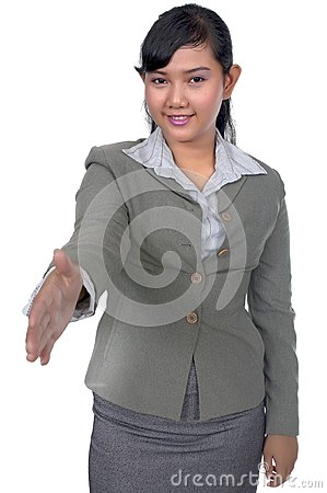 Business Woman Shake Hand