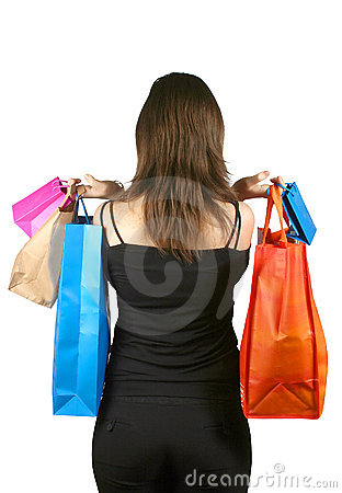 Woman with shopping bags - sally