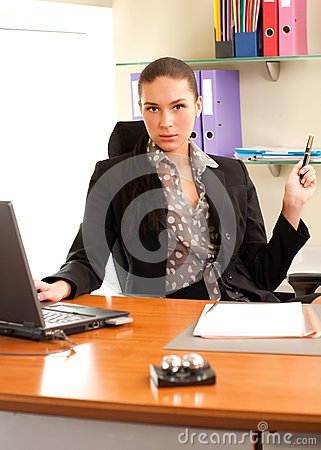 Business woman sitting in the office