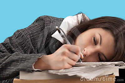 Business woman sleeping