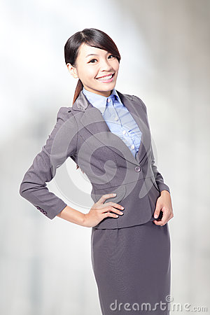 Business woman smile