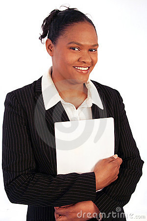 Business woman, smiling
