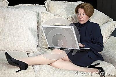 Business Woman on Sofa