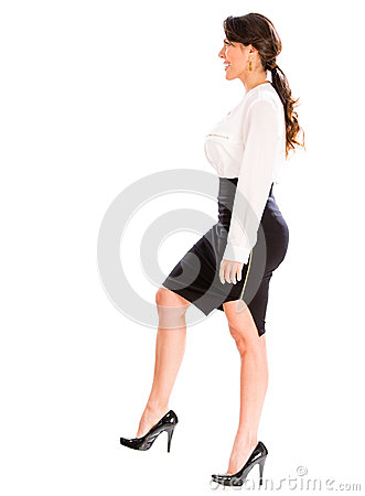 Woman Stepping On Man Business Woman Steppin...