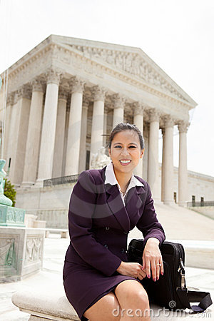 Business woman at Supreme Court