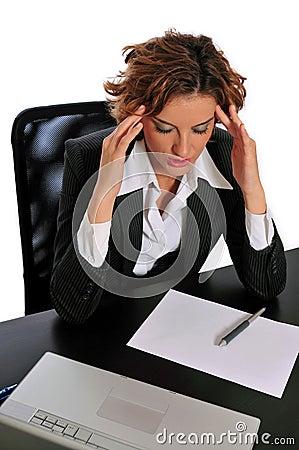 Business Woman Taking a Break to De-stress
