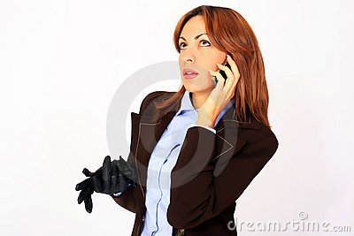 Business woman talking on the cell phone