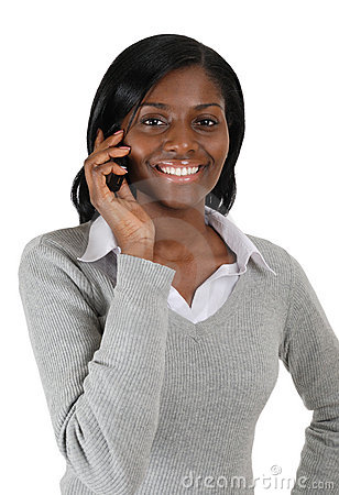 Free Business Woman Talking On Mobile Phone Stock Image - 12712221