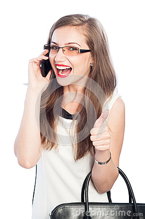 Free Business Woman Talking On Smartphone Royalty Free Stock Photography - 45947907